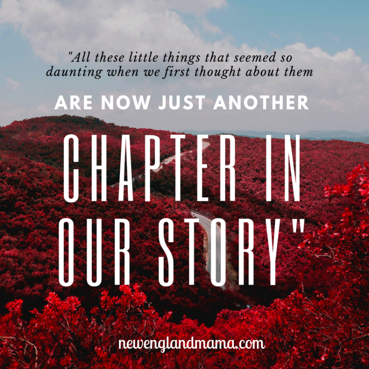 All these little things that seemed so daunting when we first thought about them are now just another chapter in our story, and I can't wait to keep adding to the book as we go.